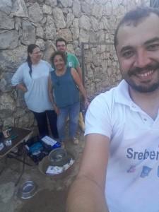 Vet. Hüseyin, Kemal, Özden und ich (von rechts nach links)